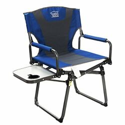 Timber Ridge Camping Aluminum Directors Chair with Carry Straps and Side Table