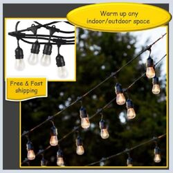 48FT Outdoor Waterproof Commercial Grade Patio Globe String Lights Bulbs