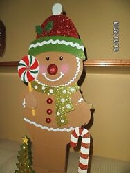 NEW: GINGERBREAD BOY -  INDOOR OUTDOOR CHRISTMAS DECOR; 22 INCHES