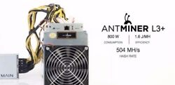 AntMiner L3+ 504MHs  APW3++ Power Supply included NEW MARCH 2018 BATCH 1