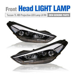 OEM Front Head Light HID Projection LED Lamp LH RH for HYUNDAI 2016-18 Tucson TL