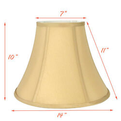 Light Gold Bell Hand Made Fabric Lampshade 7x14x11quot;H Spider $32.99