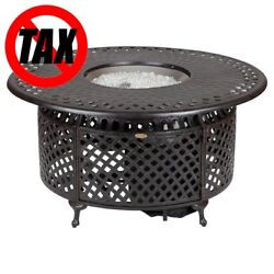 Fire Pit Fire Sense - Brown Fireplace Party Outdoor BONFIRE Metal Circle Round