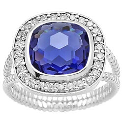 Simulated Tanzanite 925 Sterling Silver Ring Jewelry Size 6-9 DGR1072_C