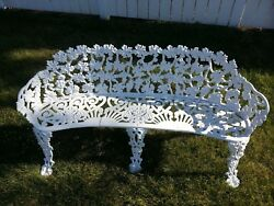 CAST IRON BENCH VICTORIAN GRAPEVINE GARDEN BENCH*****LOCAL PICKUP ONLY*****
