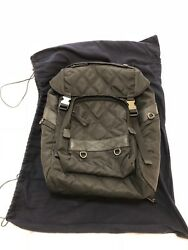 Prada Backpack Black Quilted Fabric and Leather