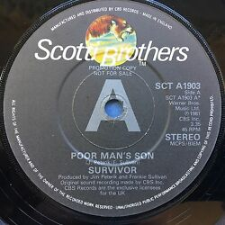 Survivor - Poor Man's Son  Love Is On My Side - Scotti Brothers SCT-A1903 Ex
