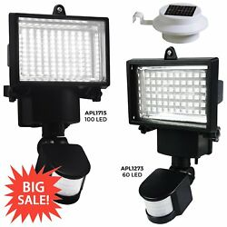 LED Solar Power PIR Motion Sensor Light Security Flood Outdoor Garden Lamp Lot