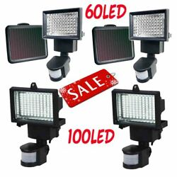 Lot 60 100 LED Outdoor Garden Solar Motion Sensor Security Flood Light Spot Lamp