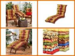 Outdoor Lounger Chair Cushion 72 Inch Patio Chaise For Wicker Garden Furniture
