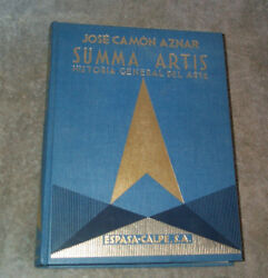 Summa Artis Historia General Del Arte XVIII Aznar In SpanishBeautiful Art HB $29.99