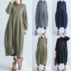 Oversize Women Casual Long Sleeve Blouse Tunic Kaftan Jumper Maxi Shirt Dress $13.78