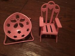 Cabbage Patch Kids Little Sprouts Dollhouse Furniture 2 Chairs Lot Chair Baby EC