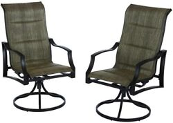 Lounge Chair Outdoor Patio Furniture Residential Swivel Traditional Padded Sling