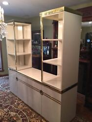 Pierre Cardin Art Deco Ivory Brass Mid Century Dining Table Chairs Sideboard Etc
