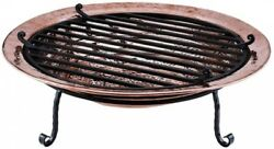 Large Polished Copper Fire Pit 36 in. Outdoor Heating Patio Accessories New