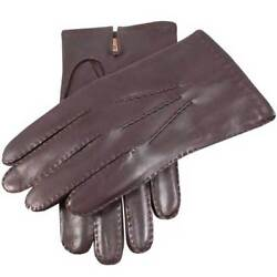 DENTS BNWT Men's Leather and Cashmere Luxury Gloves Brown RRP £100