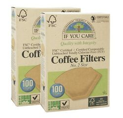 IF YOU CARE COMPOSTABLE UNBLEACHED COFFEE Filters NO. 2 SIZE 2x100 Filters $13.67