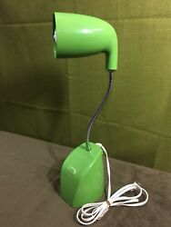 Rare Vtg Ottlite Mid Century Designer Lime Green Desk Lamp Office Movie Set $125.00