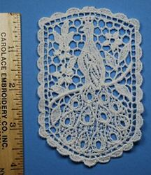 TRIMPLACE Venice Lace Applique 100% Cotton Vintage White 6 Pieces $9.47