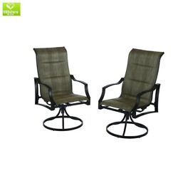 Lounge Swivel Padded Chair Outdoor Patio Porch Garden Furniture Pool All Weather