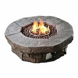 Peaktop - Outdoor 36-Inch Round Propane Gas Fire Pit for Garden and Yard