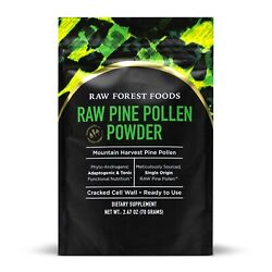 RAW Pine Pollen™ Powder » Single Origin Cracked Cell Wall Non Irradiated $24.99
