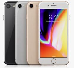 Apple iPhone 8 64GB 256GB GSM Factory Unlocked Smartphone ATamp;T T Mobile $157.95