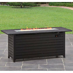 Gas Fire Pit Outdoor Propane Fireplace Smokeless Outdoor Patio Durable Heater