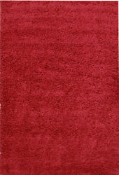 OHAR PLAIN DESIGN RED NON-SHED SHAGGY FLOOR RUG 80x150cm **NEW**