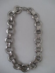 Rare Early Vintage ROBERT LEE MORRIS Sterling Silver ChokerNecklace HEAVY 215g