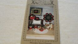 TO MAY TOE TO MAH TOE Wool Applique Penny Rug Pattern Wooden Spool