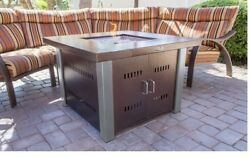 Gas Outdoor Fire Pit Patio Furniture Table Propane Garden Decor Stainless Steel