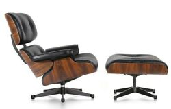 Eames Lounge Chair and Ottoman Replica Premium Leather Rosewood Premium