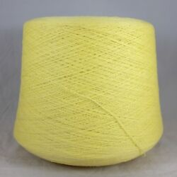 Italian Cashmere Merino Wool Yarn Cone Lace wt Lemon Machine Knit Weave Crochet