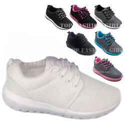 NEW Kids Boys Girls Mesh Sneaker Lace Up Sporty Tennis Shoe Size 10 to 4 Youth