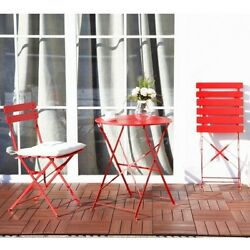 Patio Bistro Set Folding Table Chair Outdoor Furniture Seat