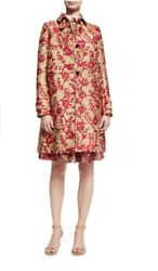 Valentino Floral Brocade Single-Breasted Coat PinkGold Women's size 4 NWT $5200
