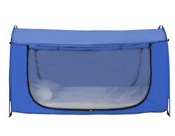 Privacy Bed Tent - Indoor Tent for Use on Bed or Floor BLUE