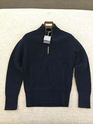 NWT Tom Ford 12 Zip Up 100% Merino Wool Sweater Made in Italy $1790