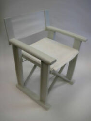 restaurant chairs LOT of 47 OUTDOOR VIRA DIRECTOR FOLDING CHAIR WHITE COLOR