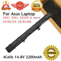 A31N1319 Battery for Asus X551 X551C X551CA X551M X551MA X551MAV-RCLN06 Charger