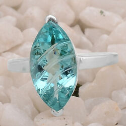 Paraiba Tourmaline 925 Sterling Silver Ring Jewelry DGR1077_L