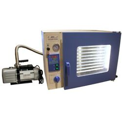 1.9 Cuft Stainless Vacuum Oven - 10 Shelves Led Lights Vac Pump