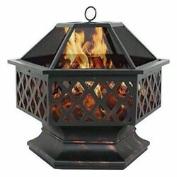 Small Fire Pit Smores Wood Fireplace Outdoor Home Garden Backyard Firepit Patio