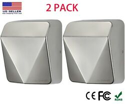 2 Pack JETWELL 2019 NEW Upgrade High Speed Commercial Stainless Steel Hand Dryer