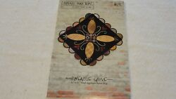 PINEAPPLE GROVE Wool Applique Penny Rug Pattern Threads That Bind 31x31