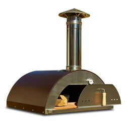 Outdoor Pizza Oven Wood Fired Portable Stainless Steel Large Cooking Space Door