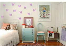 140 WALL BUTTERFLY STICKERS CHILD BEDROOM self adhesive decor vinyl GBP 2.99