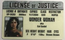 Wonder Woman Gal Gadot Drivers License Of Justice Novelty Funny $3.99